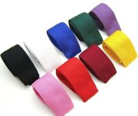 New Knit Knitted Tie Necktie Narrow Slim Skinny Woven USA SELLER