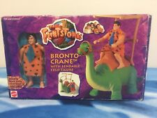 The Flintstones Bronto Crane Toy With Bendable Fred Action Figure New Mattel