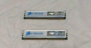 1GB 2x1024MB PC-3200 DDR-400 CORSAIR XMS PLATINUM Ram Memory Kit CMX512-3200XLPT