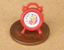 Escala 1:12 casa de muñecas en miniatura de trabajo reloj alarma roja no Dormitorio Accesorio