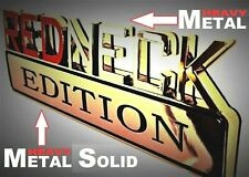 METAL Redneck Edition Emblem HIGHEST QUALITY ON EBAY Ford Truck Tailgate Logo