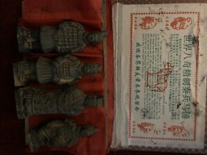 China RARE Set Of Four Terracotta Warriors (without Box)