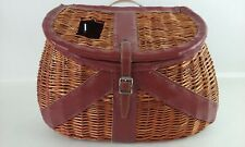 Woven Willow Wicker Fly Fishing Fish Creel Basket Tackle Angler Cabin Lodge Cave