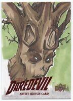 2018 Upper Deck Daredevil Seasons 1 and 2 Sketch Groot by Cathy Razim 1/1 1:120