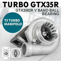 Pro GTX3582R V-Band ar.82 Dual Ball bearing Turbo Anti GTX35R Billet Wheel Top