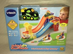 VTech Go! Go! Smart Wheels 3-in-1 Launch & Play Raceway 1-5 Years 3 Ways To Play