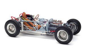 1955 LANCIA D50 ROLLING CHASSIS WITH BASE PLATE 1/18 DIECAST MODEL BY CMC 198