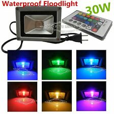 30W RGB 16 Colors IP65  LED Floodlight Outdoor Waterproof Garden Lamp+Remote