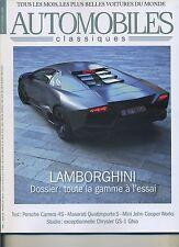 AUTOMOBILES CLASSIQUES n°177 SEPTEMBRE 2008 LAMBORGINI PORSCHE CARRERA 4S