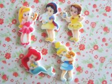 5 x Cute Disney Little Princess Flatback Planar Resin Embellishment Hair bow