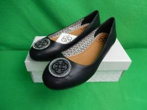 New Womens Daisy Fuentes Ricca Solid Black Slip On Ballet Flats Shoes Size 6.5