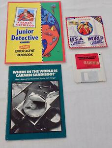 Where is Carmen Sandiego Games Macintosh Floppy Discs Vintage Computer