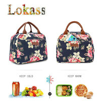 LOKASS Insulated Lunch Bag Thermal Cooler Lunch Tote Handbag for Working Picnic