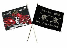 "12x18 12""x18"" Wholesale Combo Pirate Queen & Death Zone Prisoner Stick Flag"