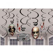 12 X Colgante Remolino Decoraciones cirugía siniestra decoración para fiesta de Halloween