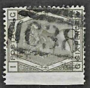 GB Used Abroad in CALLAO PERU C38 6d. grey pl.16
