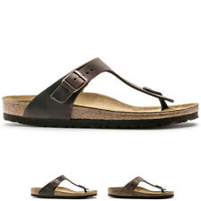 Mens Birkenstock Gizeh Oiled Leather Thong Beach Flat Summer Sandals All Sizes