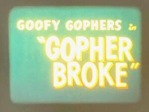 "WARNER BROTHERS 1958 CARTOON 16MM COLOR: GOOFY GOPHERS IN ""GOPHER BROKE"""