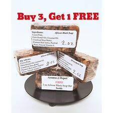 2 oz HIGHEST Quality 100%ORGANIC VIRGIN RAW AFRICAN BLACK SOAP Unscented 1/8 Lb