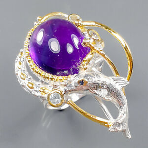 Fine Art SET Amethyst Ring Silver 925 Sterling  Size 8 /R164424