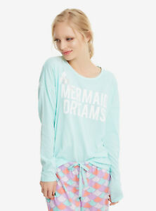 Disney The Little Mermaid Dreams Ariel Scales Sleep Set Pajamas Set XS & L NWT