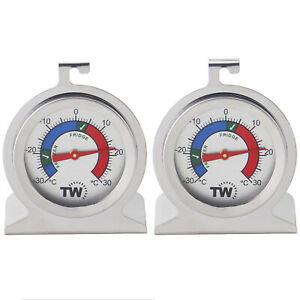 FRIDGE THERMOMETER & FREEZER THERMOMETER **TWIN PACK** STAINLESS STEEL - IN-098