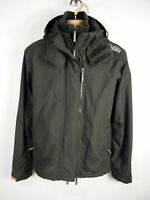 MENS SUPERDRY WINDCHEATER SIZE MEDIUM DARK KHAKI FLEECE LINED HOODED JACKET COAT
