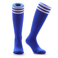 SAMSON® FOOTBALL BLUE STRIPED SOCKS SPORT KNEE HIGH HOCKEY RUGBY WOMENS MENS