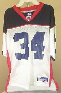 Buffalo Bills NFL Rebook Classic White Lea #34 Medium Personalized Jersey