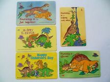 Vintage ! 5 pcs. Singapore Phone Card -1997 Dinosaurs The Land Before Time (A25)