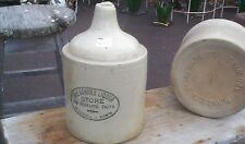 Vintage Rare Red Wing Winona Minn Whisky Liquor Advertising Jug Stoneware Crock