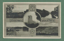 1947 RP MULTI-VIEW PC OF OTLEY  CHEVIN, WHARFE MEADOWS, RIVER, OTLEY FROM CHEVIN