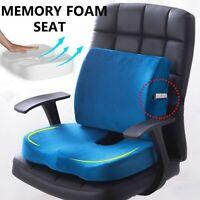 Lumbar Support Pillow Seat Chair Back Cushion Memory Foam Pad Mat Ergonomic USA