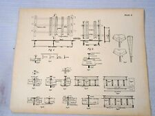 Maritime Engineering drawing Antique Print Ships Construction Steampunk Nautical