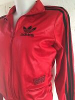 Adidas Women's Chile 62 Tracksuit Top Size XS Red / Black Jacket