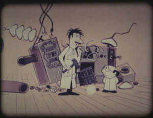 16mm Film Clyde Crashcup Invents Time Machine (Full Cartoon from The Alvin Show)