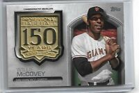 2019 Topps Series 1 Commemorative Medallion/Patch 150 Years Willie McCovey