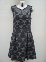 Warehouse Floral Netted Knee Length Lined Occasion Party Dress Size 12