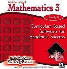 High Achiever Middle School Mathematics 3   8th Grade Math   New