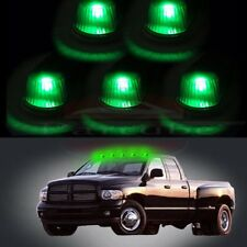 For 80-97 Ford F-150 F-250 Super Duty Clear cab marker light+ T10 Green LED bulb