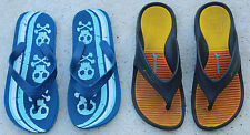 2 PAIRS OF BOY'S FLIP FLOPS BY RIDER AND BLUE CROSS AND BONE