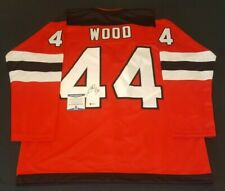 aaabe02efbb MILES WOOD NEW JERSEY SIGNED AUTHENTIC STYLE CUSTOM JERSEY COA BAS BECKETT