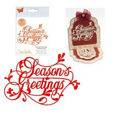 "SEASONAL DIE CUT TOPPERS ~ /""ROUND BAUBLE/"" TONIC CHRISTMAS"