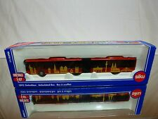 SIKU 1893 GELENKBUS ARTICULATED BUS - RED 1:87- EXCELLENT CONDITION IN BOX