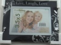 Live Laugh Love Glass Photo Picture Holder 3.5x5 Frame Mantel Free Standing