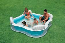 Intex Swim Center 990L Piscina Gonfiabile con 4 Sedili 229x229x66cm - Blu (56475NP)
