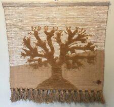 Authentic Don Freedman Tree Of Life Textile Fiber Art Wall Hanging 32 x 30 VTG