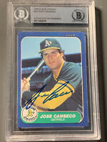 Jose Canseco Autographed RC 1986 Fleer Update BGS Slab Oakland Athletics