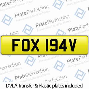 FOX 194V FOXY FOXIE CHERISHED PRIVATE NUMBER PLATE DVLA REGISTRATION