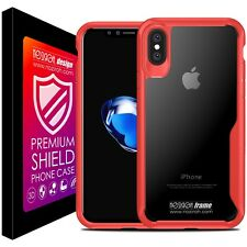 Cover Custodia Antiurto Per iPhone X 10 Auto Focus 3D Noziroh Frame Case Bumper